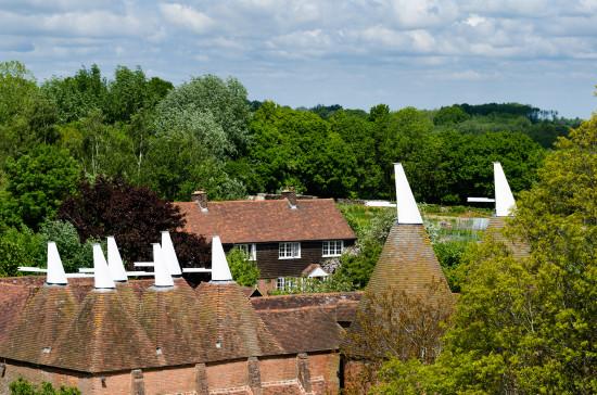 Oast houses next door, now part of the grander organic enterprise. Photo - Andrew Fletcher/Shutterstock