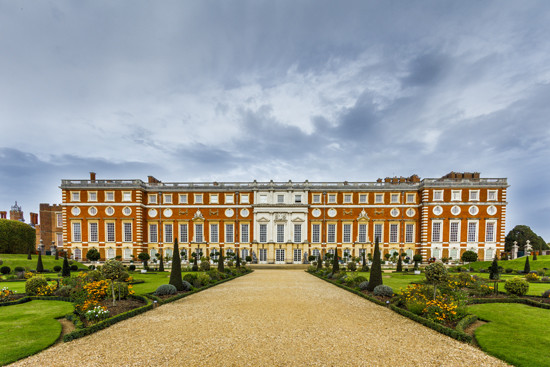 Facade of Hampton Court Palace. Photo - Alexandra Reinwald