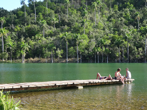 Relaxing by the lake, Las Terrazas village
