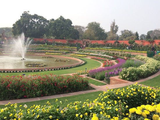 Circular Garden at the Presidential Palace New Delhi. Photo - Libby Cameron
