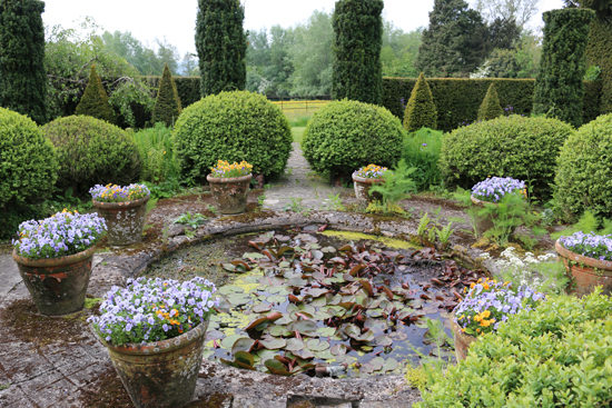 Lily pond in the Sunk Garden. Photo - Colin Barlow