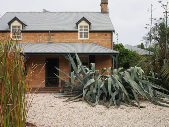 Giant Agave at the front of the cottage. Photo - Robin Powell